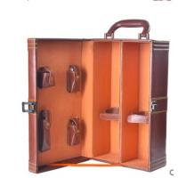 leather wine gift box leather storage box luxury leather jewelry gift box Manufactures