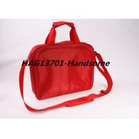 Red 420D polyester document briefcase bag for ladies and Men Manufactures