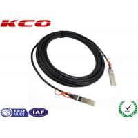 Integrated 28AWG SFP+ to SFP+ Cable 10 GBPS , Active Optical Cable Manufactures