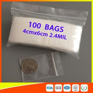 Reusable Clear Zip Top Plastic Bags , Waterproof Small Ziplock Bags For Jewelry Manufactures
