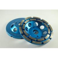 4-7 Inch Double Segmented Row Diamond Cup Grinding Wheel For Marble / Stone Manufactures