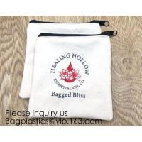 Canvas Zipper Bags Canvas Pencil Case Blank DIY Craft Bags Cosmetic Pouch Makeup Bag for Travel DIY Craft School product Manufactures