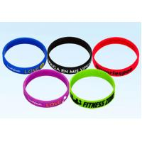 China Customize Promotional Rubber Bracelets Printed Silicone Wristbands Ultra Resistant on sale