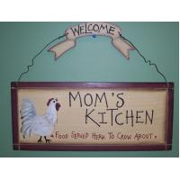 MOMS KITCHEN WOODEN WALL HANGING SIGNS COUNTRY KITCHEN DECOR HOME ACCENTS Manufactures