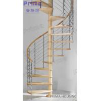 In Cheap Price Selling Solid Wood Spiral Staircase Manufactures