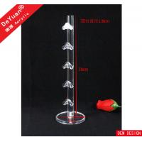 High Glossy Acrylic Display Stands , Transparent Glass Display Stand Manufactures