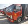 Buy cheap Sinotruk HOWO  Light Duty Trucks , 3360 Wheelbase 18 Feet Box Truck from wholesalers