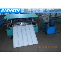 Metal Roof Panel Trapezoidal Roofing Sheet Roll Forming Machine with Ameri - Drain
