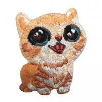 Cute Animal Shaped Chenille Embroidery Patches For Clothing / Towel Decor Manufactures