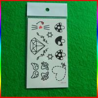 forehead temporary tattoo black tattoo stickers made in China Manufactures