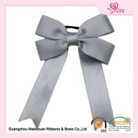 Silver printed elastic ribbon Bows gift wrap ribbon For Christmas Tree eco friendly feature Manufactures