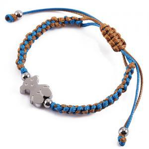 China Handmade Woven Bracelets , Stainless Steel Charm Bracelet For Anniversary on sale