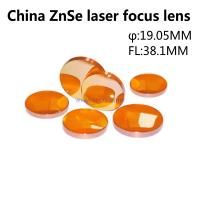 China ZnSe lens 19.05MM diameter FL38.1MM CO2 laser focus lens work with laser cutting machine Manufactures