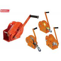 0.5 Ton Hand Lifting Winch / Manual Trailer Winch With Cable Wire And Hook Manufactures