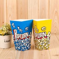 China Custom Printed Disposable Popcorn Containers Food Grade Soy Ink Color Printing on sale