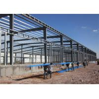Long Life Steel Structure Warehouse Easy Build With Roller / Sliding Door Manufactures