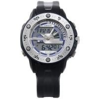 Ohsen Japan Quartz Rubber Sport Watch Lcd Dual Core , Countdown Stopwatch Manufactures