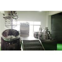 300L SUS316L Cosmetic Cream Emulsifier Mixer, Vacuum Emulsifying Machine Manufactures