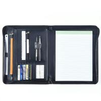 Professional Leather Business Portfolio Zipper Closure With 11 Inch Tablet Pocket Manufactures