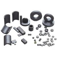 Permanent brittle and hard Ferrite Magnets ring , arc , cylindrical for Speaker Manufactures