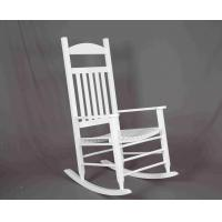 White Rocking Chair Wooden Outdoor Furniture Hollow Design For Relaxing Manufactures