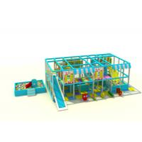 China Blue And Yellow Infant Indoor Play Equipment / Commercial Indoor Play Structures For Home on sale