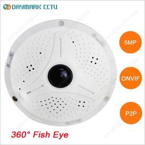 D-PTZ 360 degree fish-eye lens 5 megapixel ip camera with night vision Manufactures