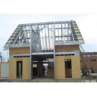 Prefabricated Single Floor Light Steel Gauge House With Wall Board Manufactures