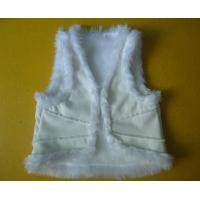 Suede And Fur Joint Winter Vest Jackets , Warm Womens Sleeveless Vest Jacket Manufactures