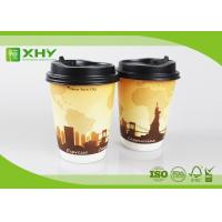 12oz 400ml FDA Certificated Eco-friendly Double Wall Paper Cups with Lids Manufactures