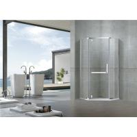 Mirror Color Pivot Shower Doors Diamond Type Clear Tempered Glass L Shape Handle Manufactures