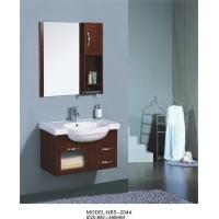 China Pure  Walnut Solid Wood Bathroom Cabinet Contemporary Style with 2 Drawers on sale