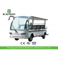 Low Noise Electric Sightseeing Car 14 Person , Multi Passenger Electric Tour Bus Manufactures