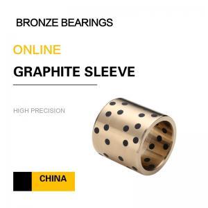 Metric Bushings CuAl10Fe5Ni5 EN Casting Copper Alloy Bronze Sleeve Bearings Graphite Standard European Size Manufactures