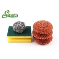 Silver Metal Scouring Ball / Stainless Steel Cleaning Pads For Pot Washing Manufactures