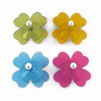 Acrylic suction hook in four-petaled flower design Manufactures