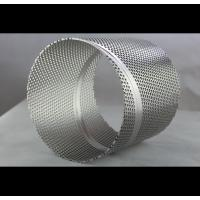 Automotive Perforated Metal Pipe ,  Polished Surface Perforated Filter Tube Manufactures