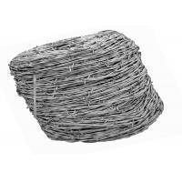 12 Gauge Galvanized Barbed Iron Border Fence Wire For Wire Fencing ISO9001 Passed Manufactures