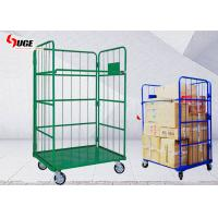 China Green Movable Roll Container Trolley Four Layer For Factory / Workshop on sale