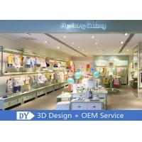OEM Children'S Store Fixtures / Baby Clothing Showcase With Light Green Lacquer Finished Manufactures