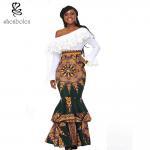 african design dresses Off The Shoulder African Batik Print Dress For Women Manufactures