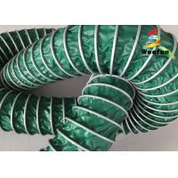 Quality Flame Retardant High Temperature Flexible Duct , 150mm Ventilation Flexible Ducting for sale