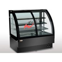 China 3 Shelves Food Display Showcase Front Sliding Door , Glass Bakery Display Case on sale