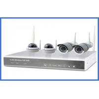 1/4 Indoor And Outdoor Cameras Realtime 1.3mp 4ch Wireless IP Kits High Resolution Manufactures