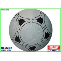 Professional Size 3 Rubber Footballs , Awesome White and Black Soccer Ball Manufactures