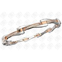 Rose Gold Women Stainless Steel  Bracelets With Clear Crystals Manufactures
