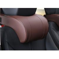 Soft And Comfortable Car Headrest Pillow PVC Leather Material For Car Accessories Manufactures