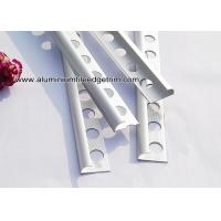 Ceramic Wall Rounded Corner Aluminium Tile Edge Trim / Profiles Silver Matt Manufactures