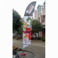 Decorative Custom Advertising Flags And Banners With Poles + Cross Base + Carry Bag Manufactures