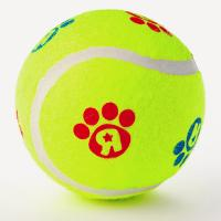 China Pet toy rubbber tennis ball for dog training on sale